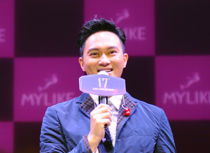 2015年11月男神张智霖助阵美莱集团周年庆,自爆