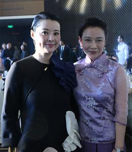 肖玮与各时尚杂志教主合影